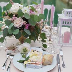 décoration table mariage romantique