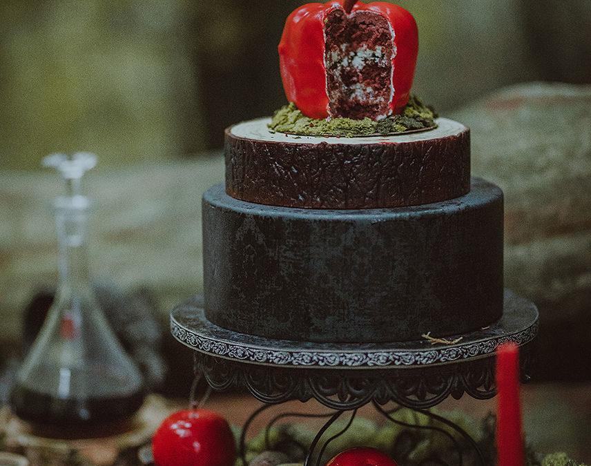 wedding cake blanche neige shooting