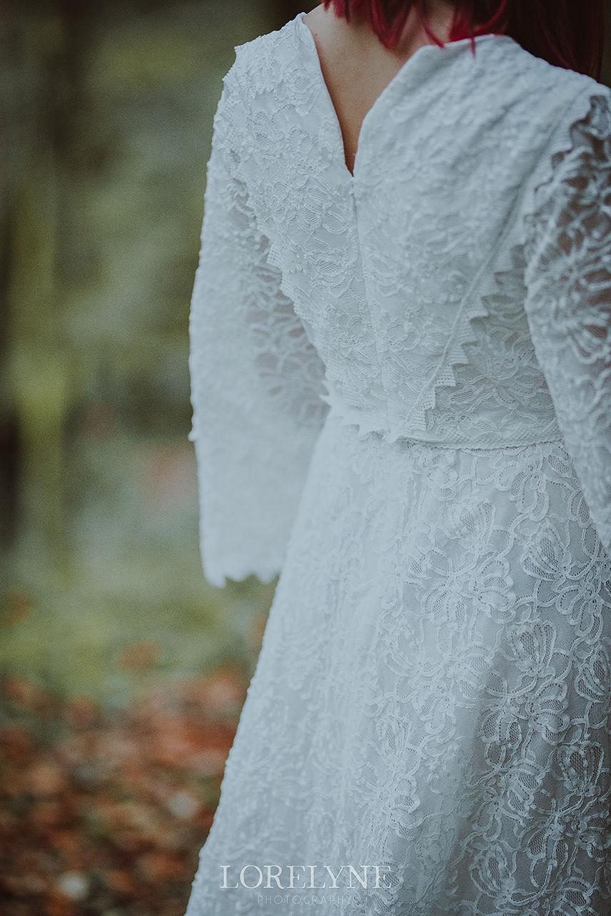 Robe blanche neige shooting