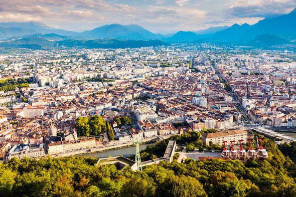 Grenoble : vue aérienne