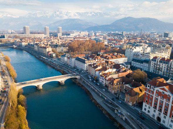 Isère : vue de Grenoble